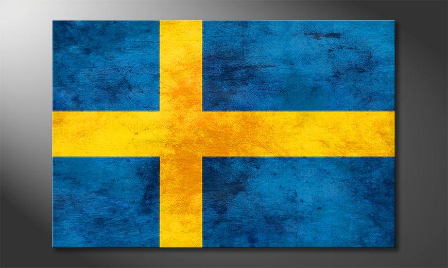 Het foto canvas Zweden