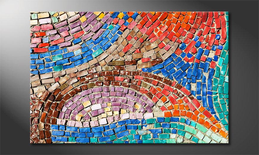 Het gedrukte beeld Colorful Mosaic