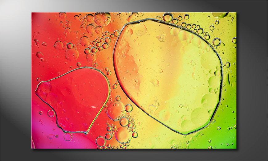 Het gedrukte beeld Colorful Water II