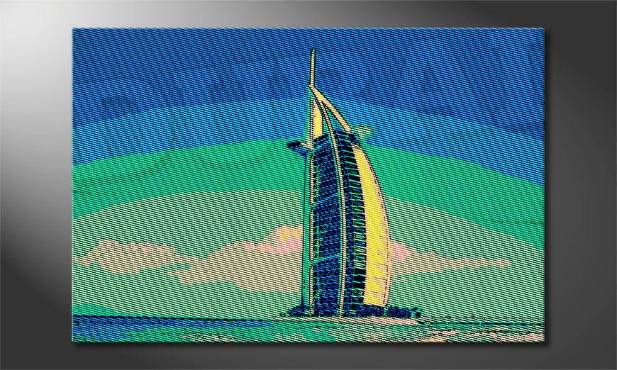 Het gedrukte beeld Dubai