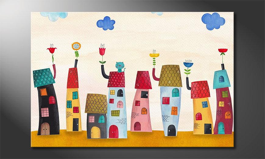 Het gedrukte beeld Fairytale Town