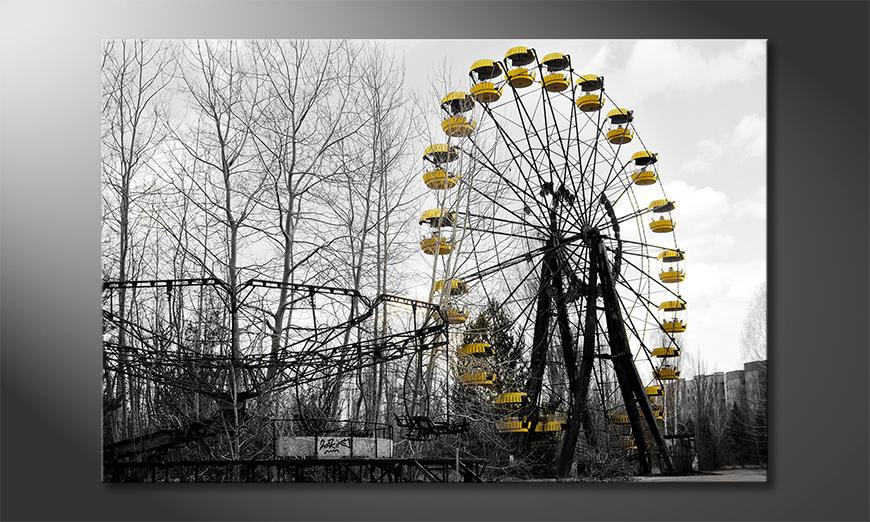 Het gedrukte beeld Ferris Wheel