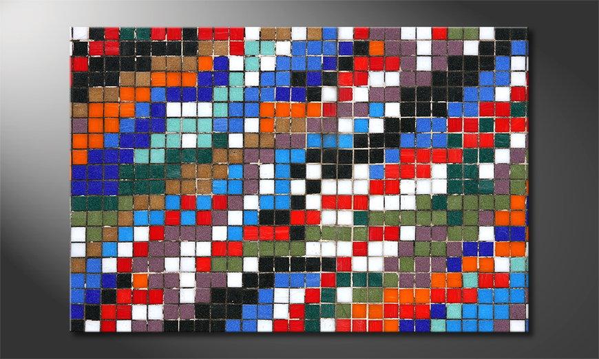 Het gedrukte beeld Mosaic