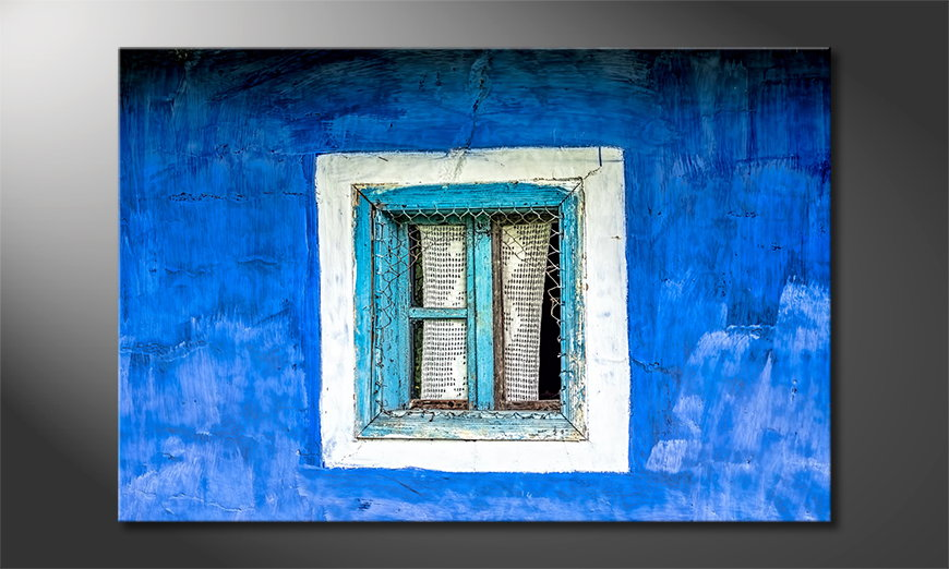 Het gedrukte beeld Old Window 120x80 cm