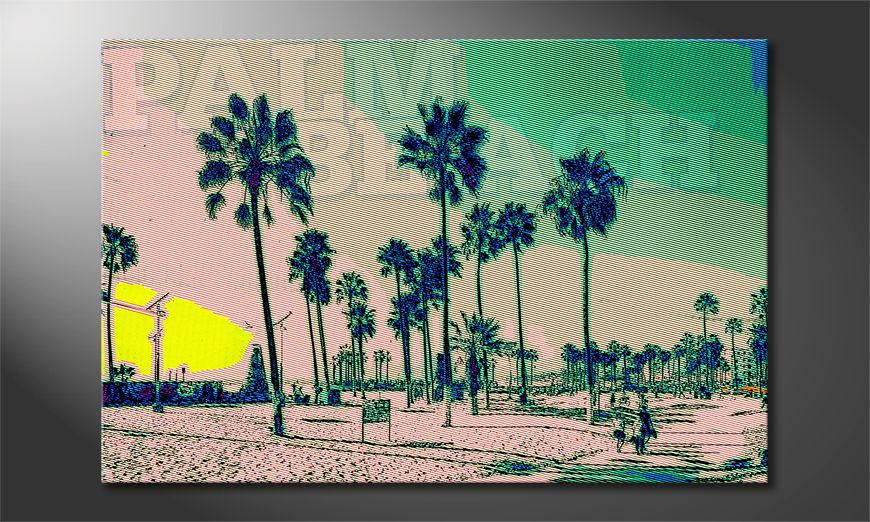 Het gedrukte beeld Palm Beach