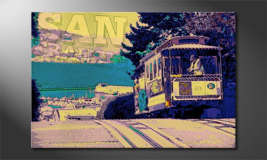 Het gedrukte beeld San Francisco