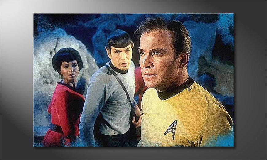 Het gedrukte beeld Star Trek 120x80 cm