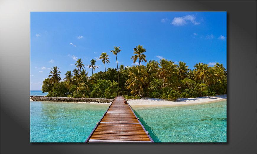 Het gedrukte beeld Tropical Way