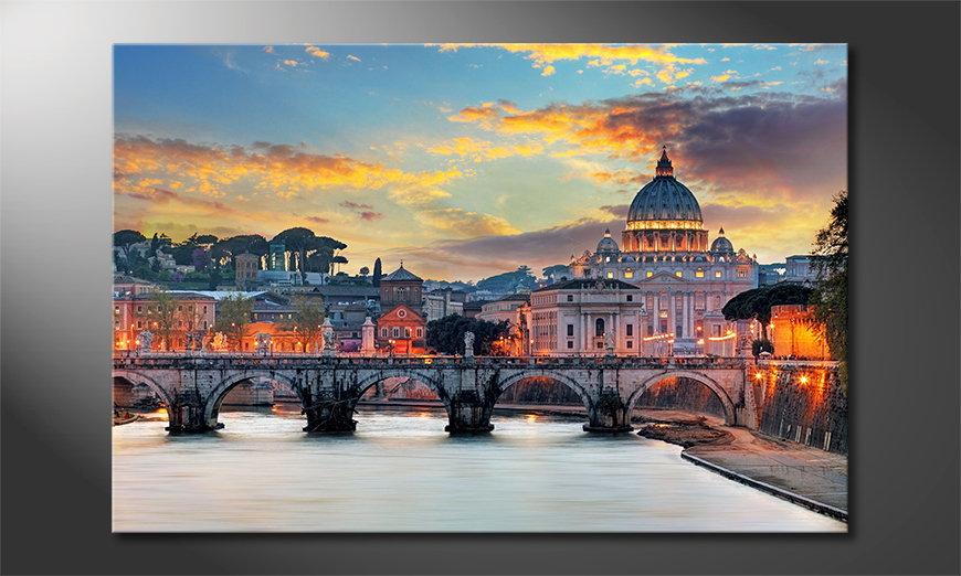 Het gedrukte beeld Vatican