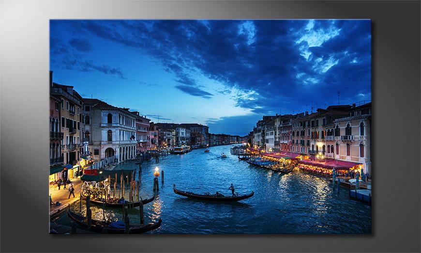 Het gedrukte beeld Venice Sunset