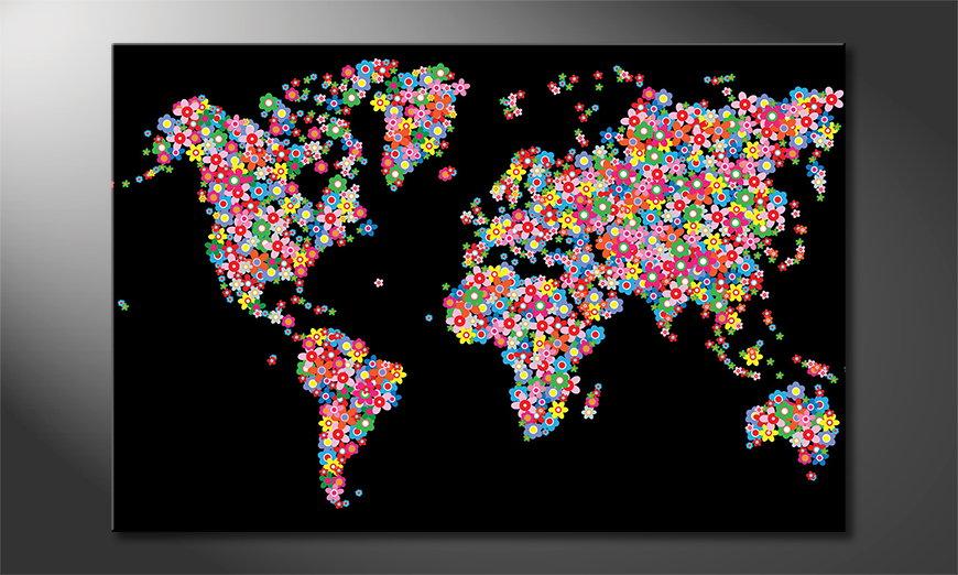 Het gedrukte beeld World Flowers