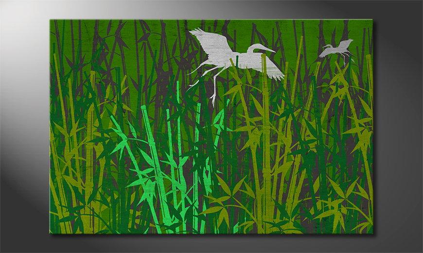Het gedrukte canvas Bamboo