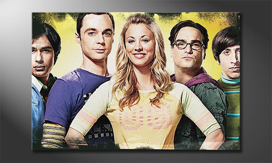 Het gedrukte canvas Big Bang Theory