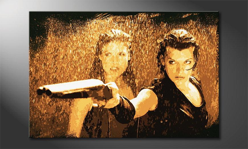Het gedrukte canvas Resident Evil