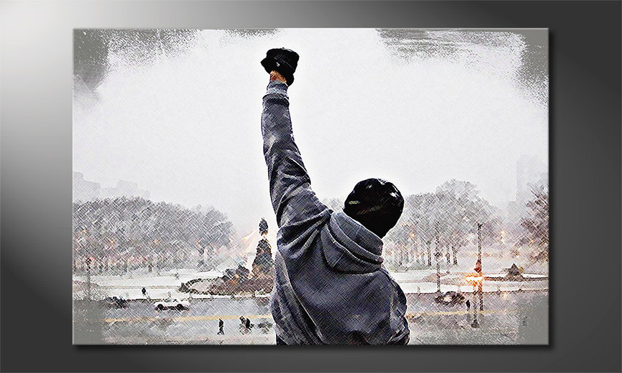 Het gedrukte canvas Rocky Moment