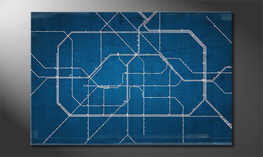 Het moderne Canvas Berlin Metro