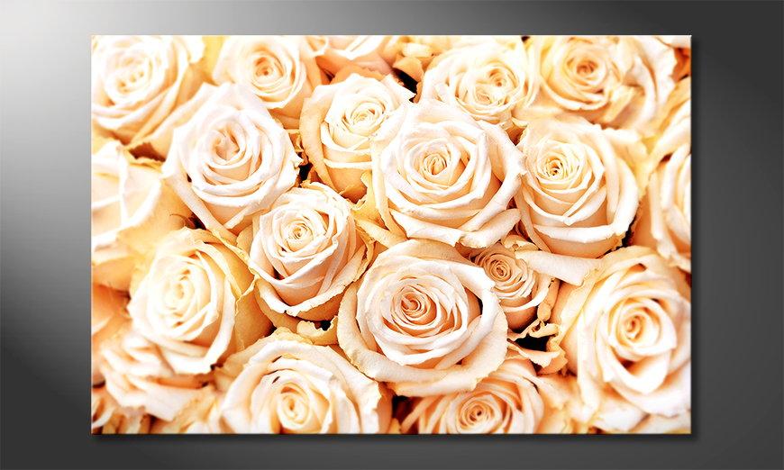 Het moderne beeld Creamy Roses
