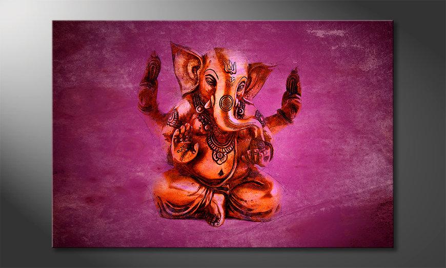 Het moderne beeld God Ganesha