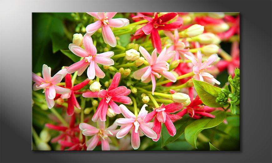Het moderne beeld Pink Moment 60x40 cm