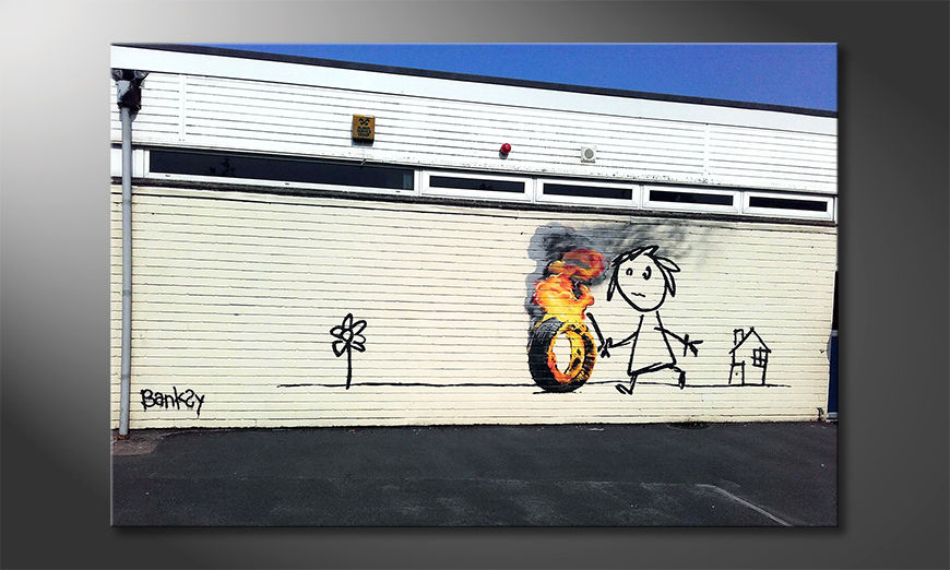 Het moderne beeld Play With Fire