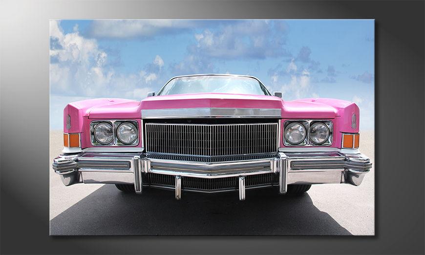Het populaire beeld Pink Cadillac