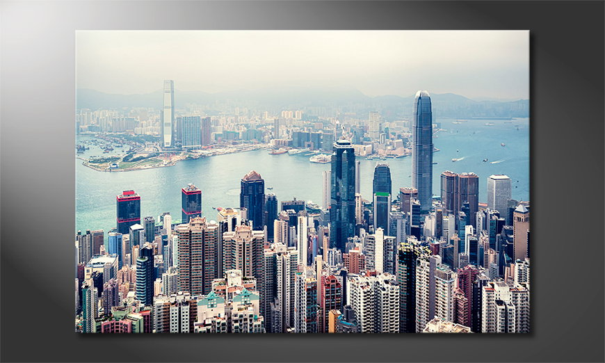 Hongkong-Skyline-wandpaneel