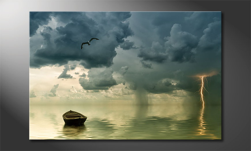 Lonely Boat wandpaneel