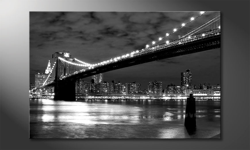 Modern canvas afdrukken Brooklyn Bridge