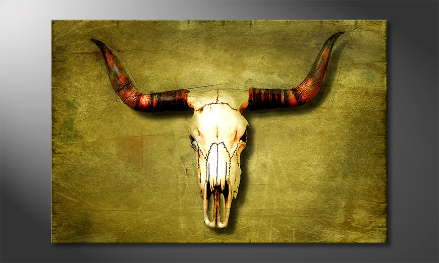 Modern canvas afdrukken Buffalo Bull