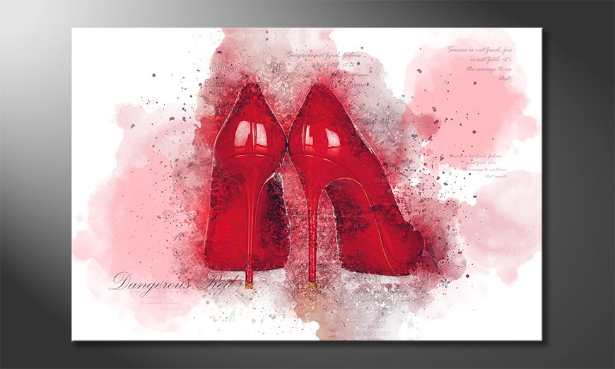 Modern canvas afdrukken Dangerous Red