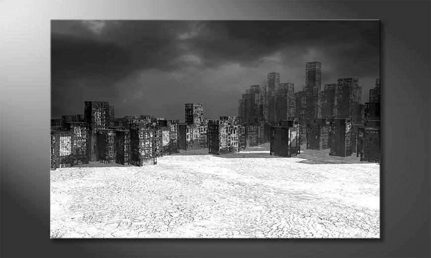 Modern canvas afdrukken Dystopie