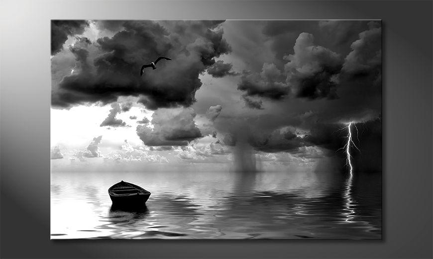 Modern canvas afdrukken Lonely Boat