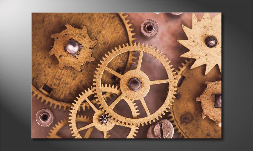 Modern canvas afdrukken Mechanical Watch 120x80 cm
