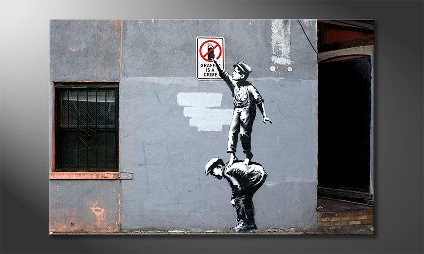 Modern canvas afdrukken Spray Crime