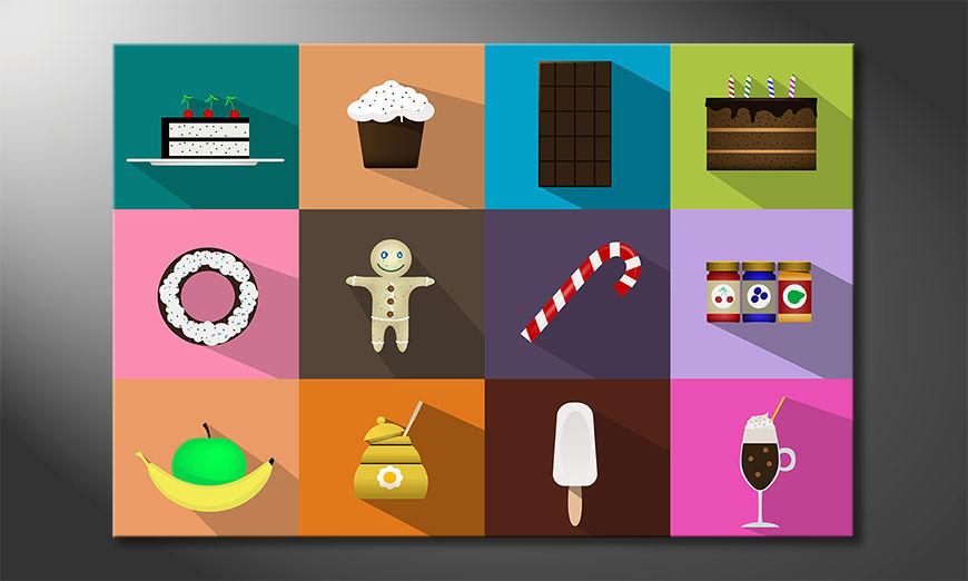 Modern canvas afdrukken Sweets For My Sweet