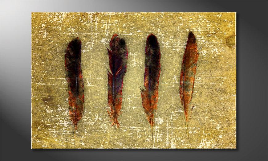 Modern decor Four Feathers