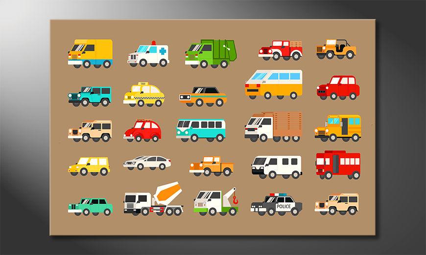 Modern decor Funny Cars