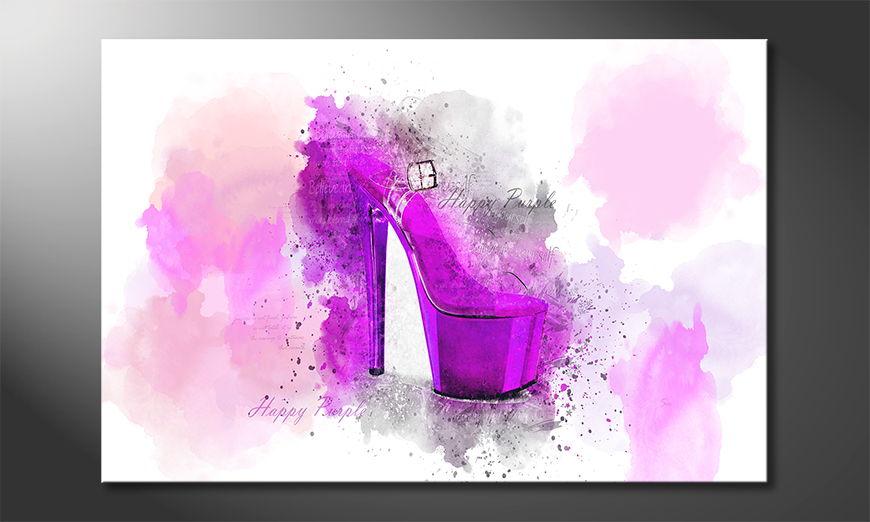 Modern decor Happy Purple