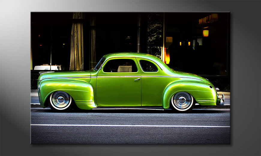 Modern-wandpaneel-Green-Car