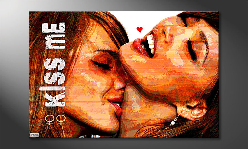 Modern wandpaneel Kiss Me
