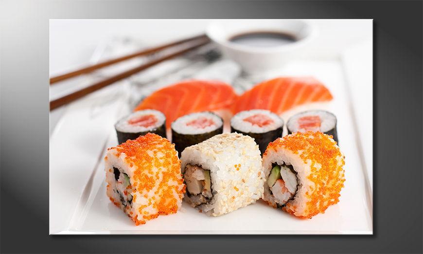 Modern wandpaneel Sushi