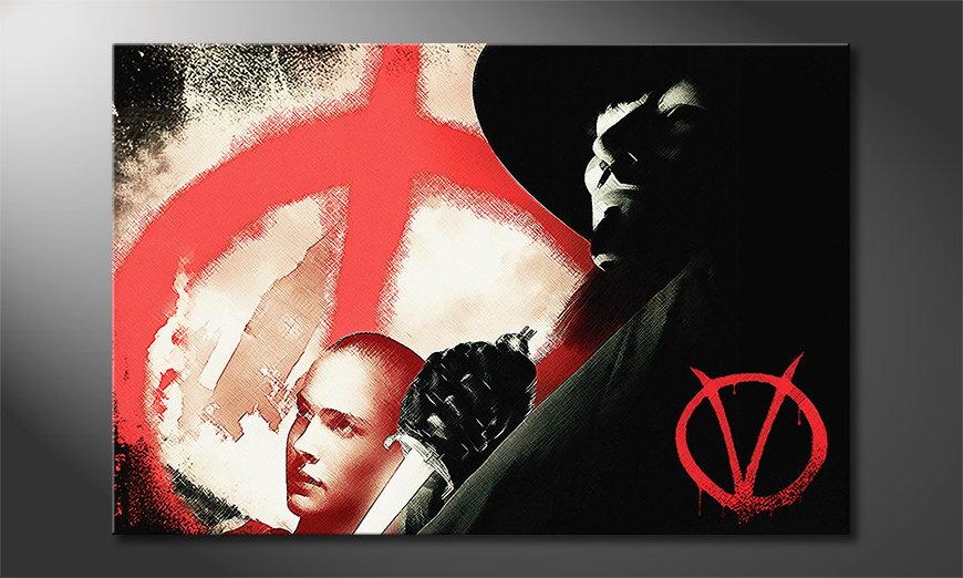 Modern wandpaneel Vendetta