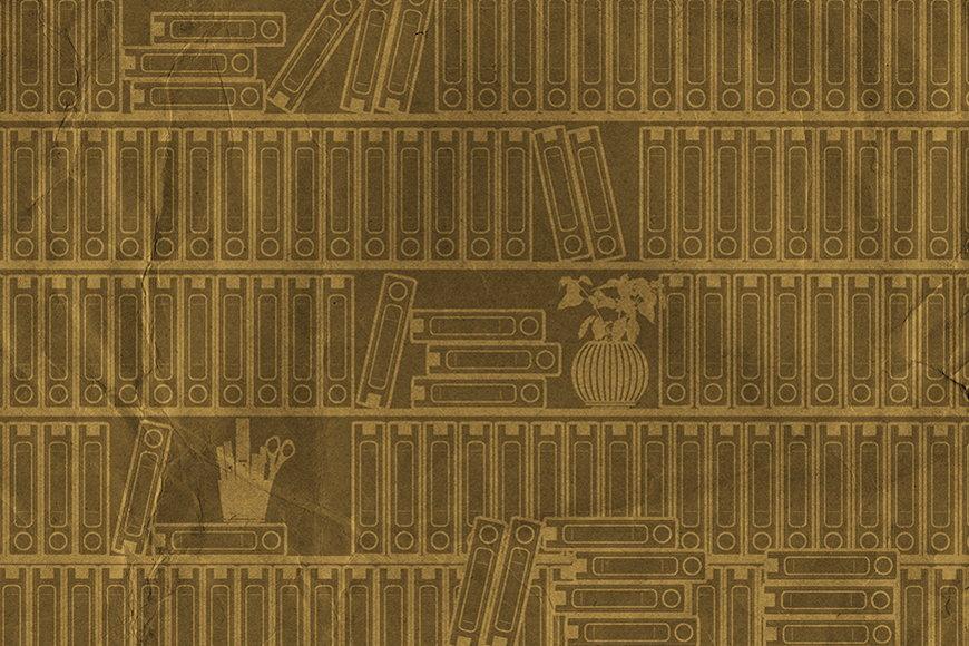 Vlies-behang Boekenrek I vanaf 120x80cm