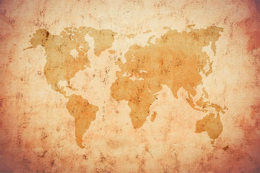 Vlies-behang Old Worldmap vanaf 120x80cm