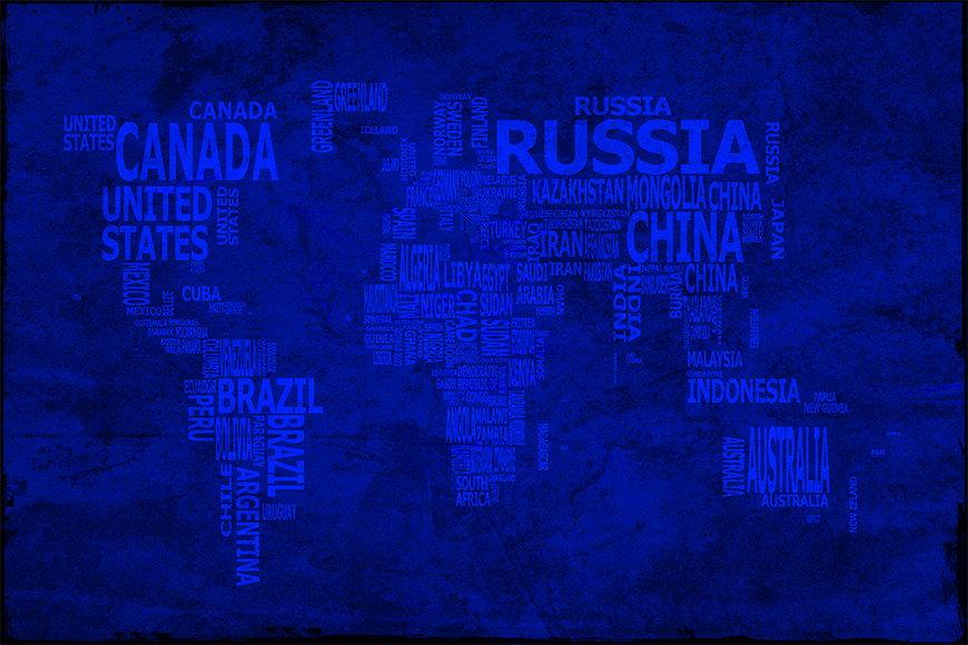 Vlies-behang Wereldkaart 10 vanaf 120x80cm