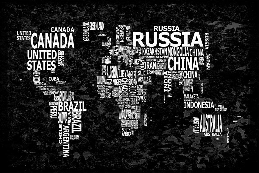 Vlies-behang Wereldkaart 12 vanaf 120x80cm