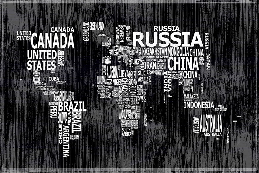 Vlies-behang Wereldkaart 13 vanaf 120x80cm