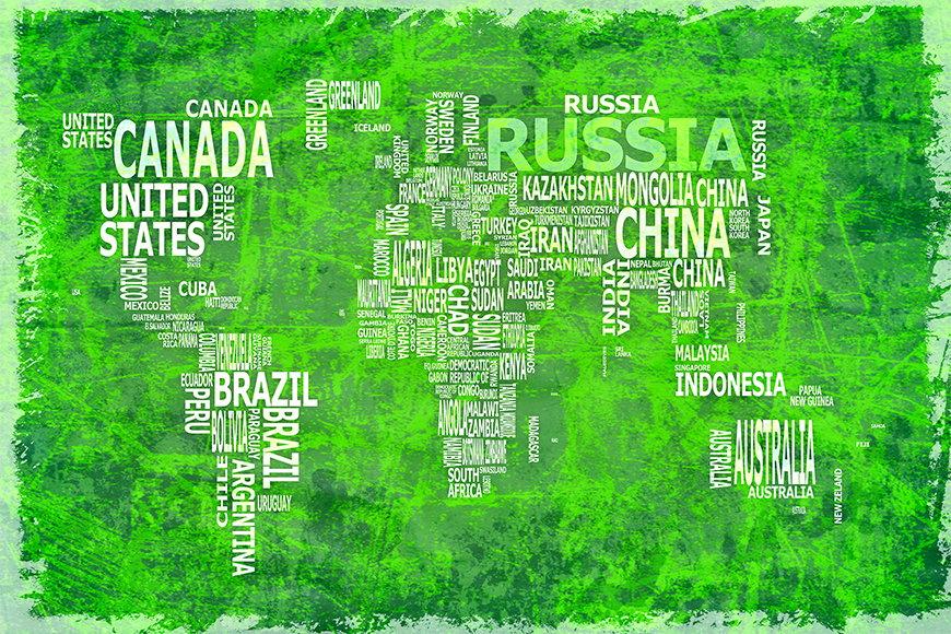 Vlies-behang Wereldkaart 16 vanaf 120x80cm