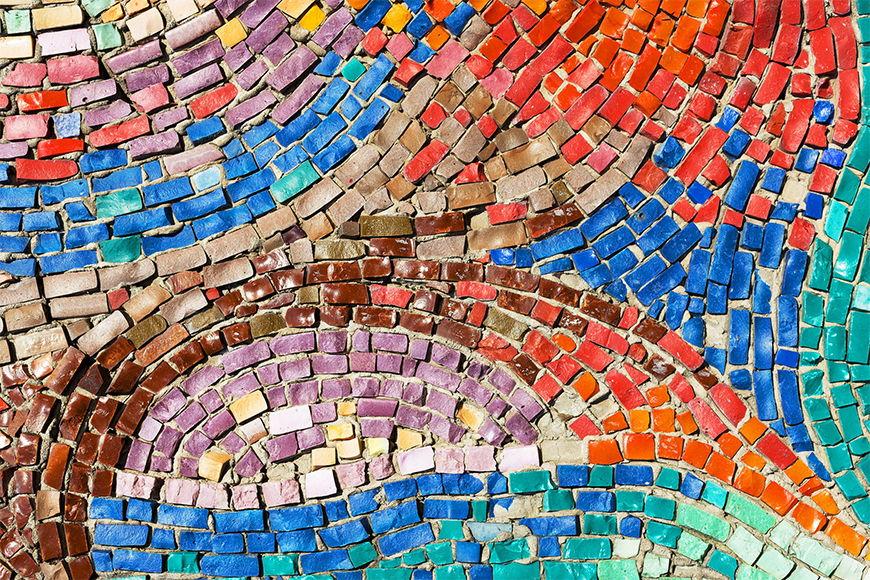 Vlies foto-behang Kleurige Mosaik vanaf 120x80cm