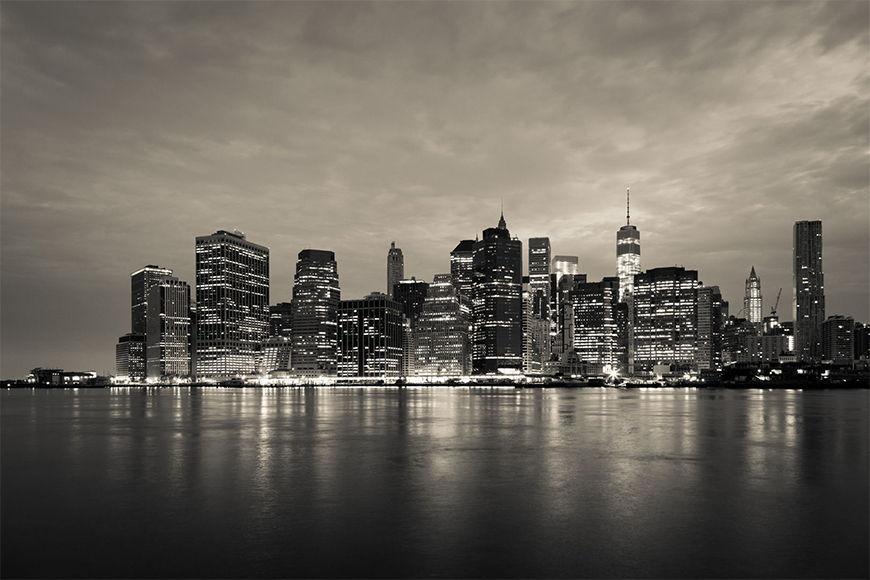 Vlies foto-behang Manhattan Night vanaf 120x80cm